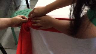 Basic Bridal and Triple Pleat table skirting for the group of Sinnido