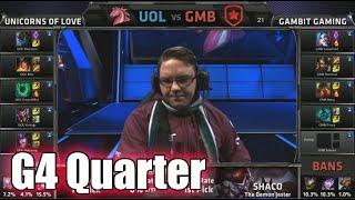 Gambit vs Unicorns of Love | Game 4 Quarter Finals S5 EU LCS Spring 2015 playoffs | GMB vs UOL G4