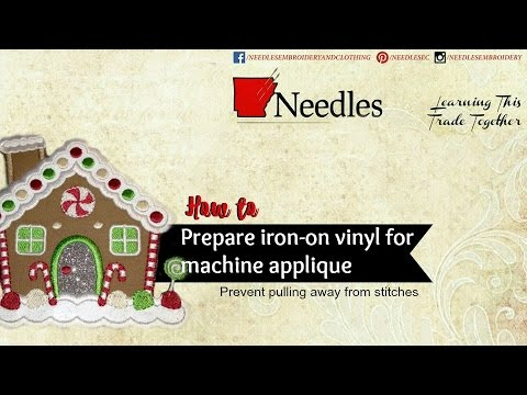 Needles Embroidery | How to prep glitter vinyl sheets for machine applique