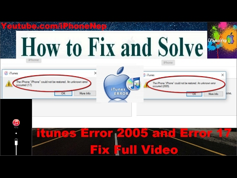 How To Fix ITunes Restore Errors 17 And Error 2005 While Updating Or Restoring On IPhone, IPad, IPod