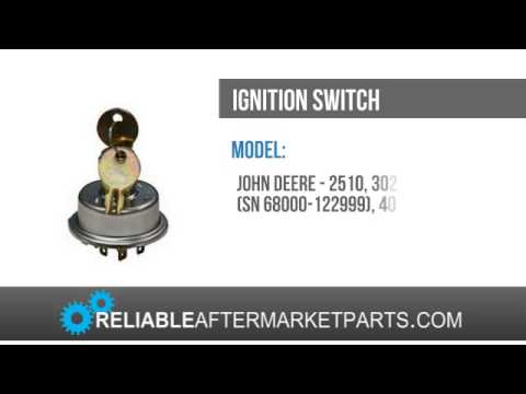 AR39505 John Deere Tractor Ignition Switch 2510 3020 4020 5010 5020