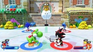 Mario and Sonic at the Sochi 2014 Olympic Winter Games - Isle Delfino Hockey (Wii U)