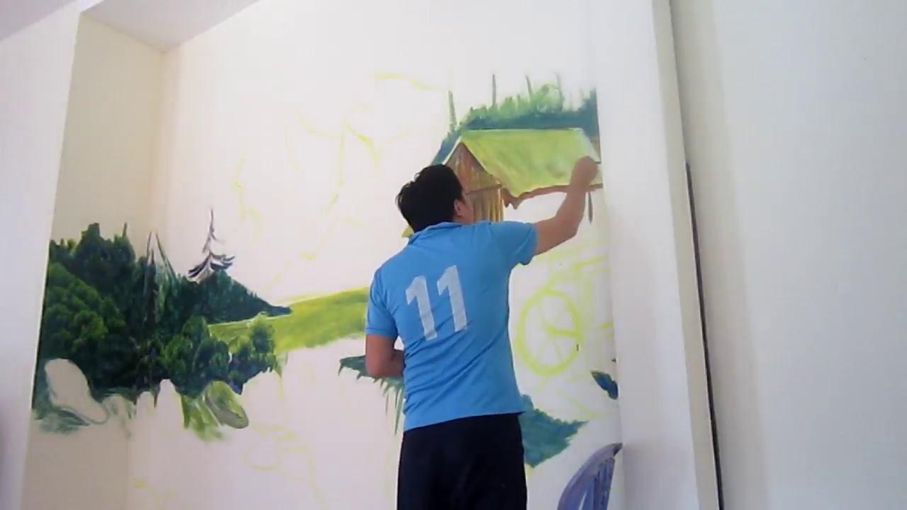 Cách Vẽ Tranh Tường phần #(1)| Trường Lý