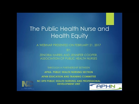 APHN Webinar: The Public Health Nurse and Health Equity
