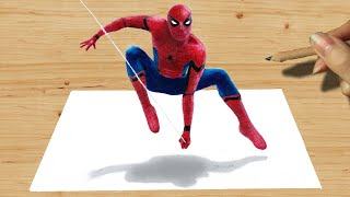 3D Pencil Drawing: Spider-Man NEW COSTUME in Captain America: Civil War - Speed Draw | Jasmina Susak