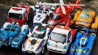 Full Tobot V Speed Robot Transformers Tank, Monster Police & Airplane Rescue Car Adventure Kids Toys