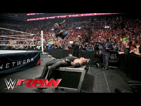 Thumbnail: Shane McMahon attacks The Undertaker before WrestleMania: Raw, March 28, 2016
