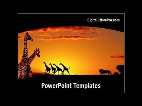 Africa PowerPoint Template Backgrounds DigitalOfficePro 04877