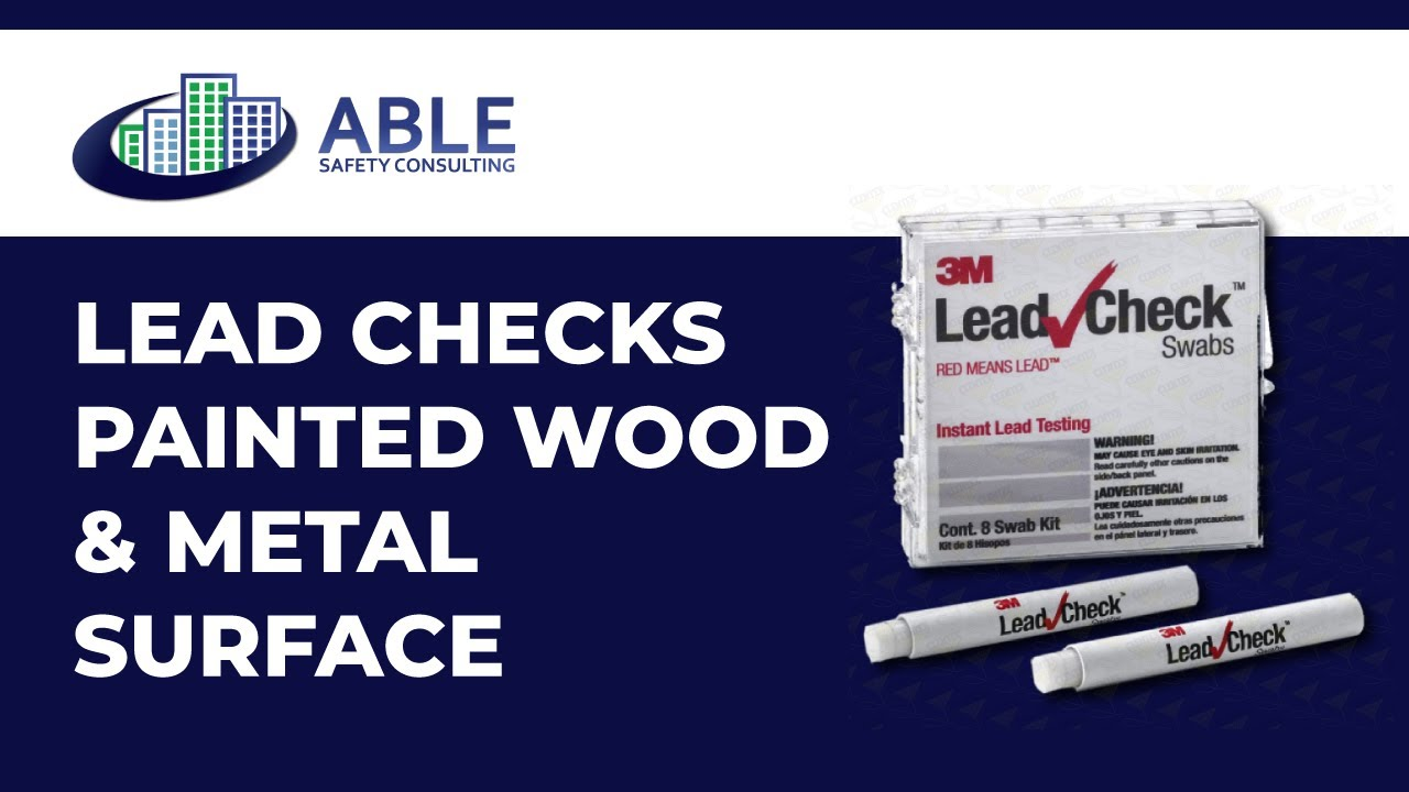 able safety consulting how to use lead check swabs to test for lead based paint youtube. Black Bedroom Furniture Sets. Home Design Ideas
