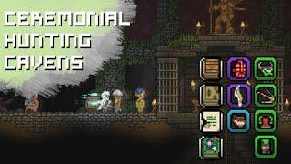 Starbound Ceremonial Hunting Caverns | Predatory Armor, Ixodoom Claw, Masks