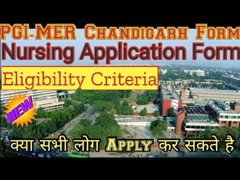 PGIMER Nursing Application