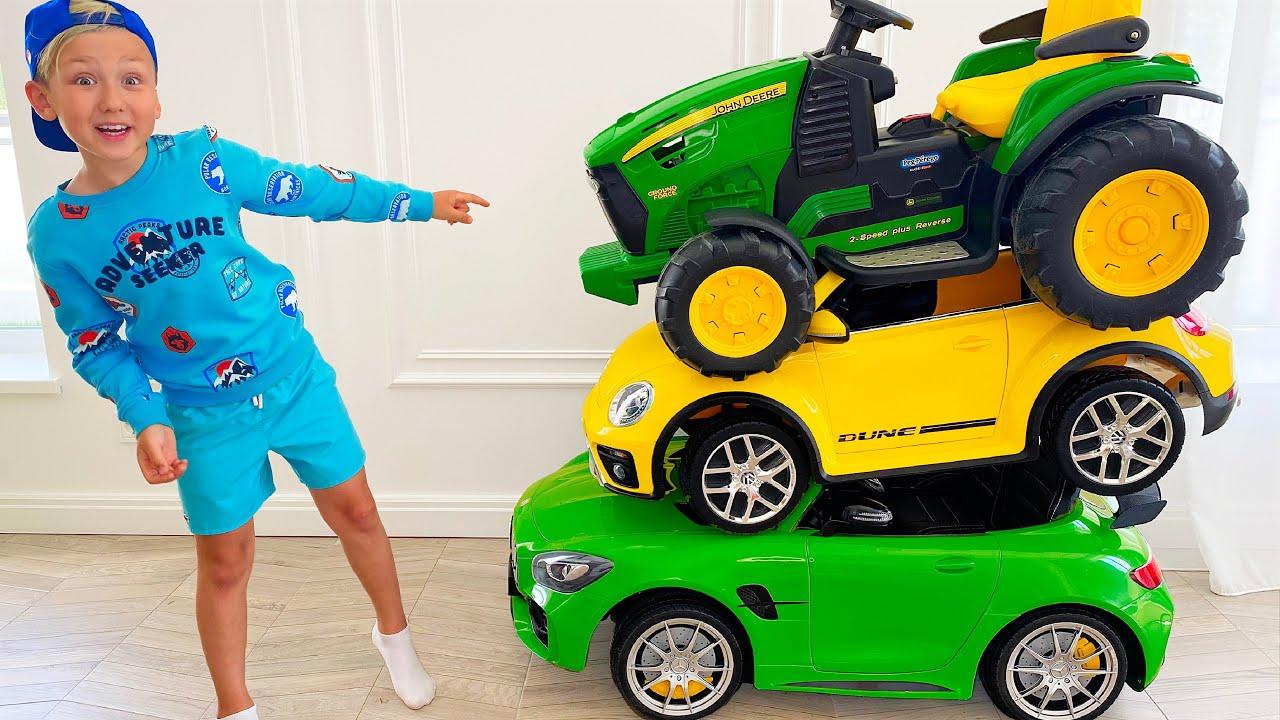 Сеня и его Сломанные Машинки для детей