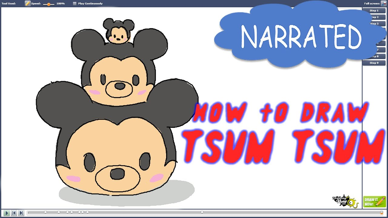 How To Draw Disney Tsum Tsum (NARATTED)