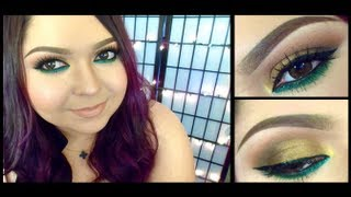 Look: Emerald Gold (Bronze smokey eyes with a pop of green) Thumbnail