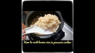 How to cook brown rice in pressure cooker // how to cook perfect brown rice in pressure cooker