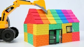 Kinetic Sand Rainbow House Surprise Toys Learn Colors Nursery Rhymes Songs For Kids DIY
