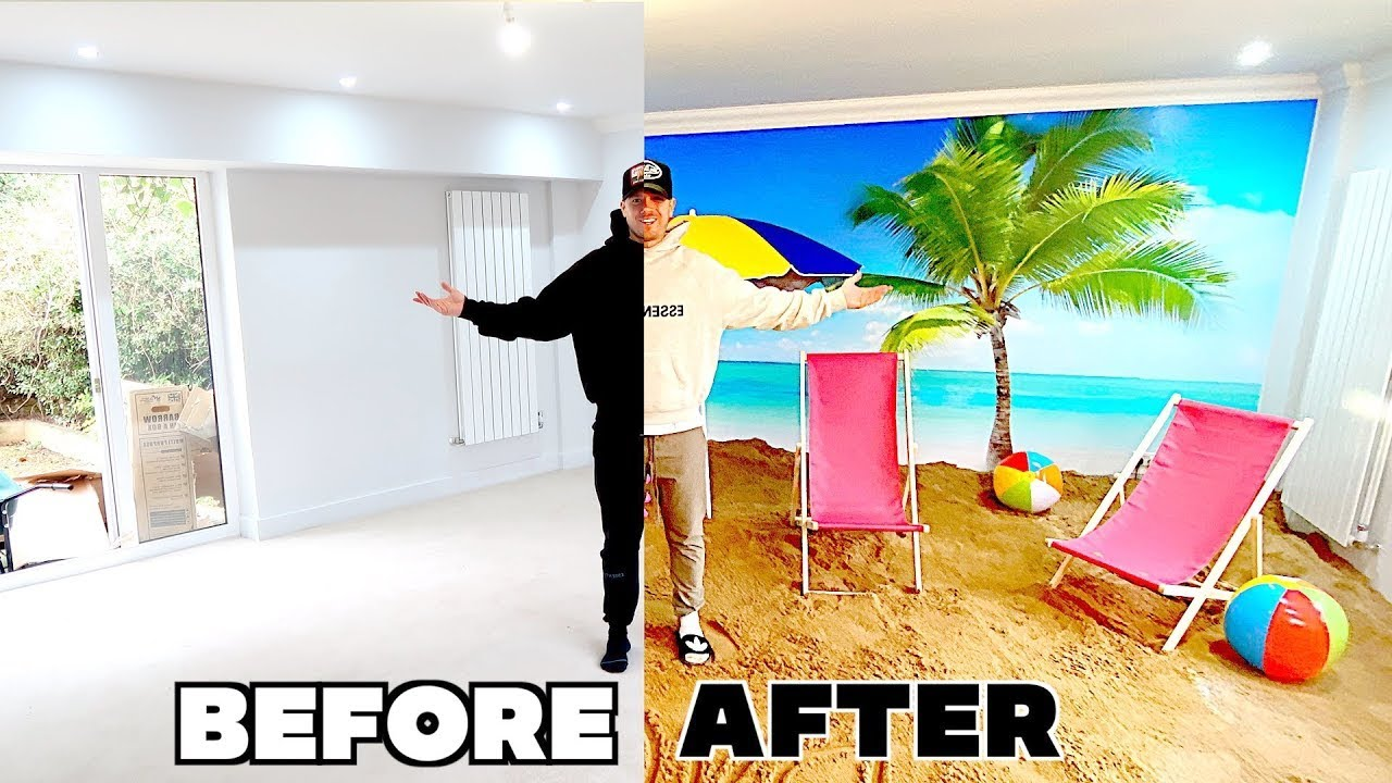 DAD TURNED OUR HOUSE INTO A BEACH!! 🏝