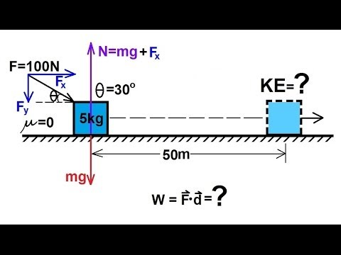 Physics - Mechanics: Work, Energy, and Power (2 of 20) Basic Example
