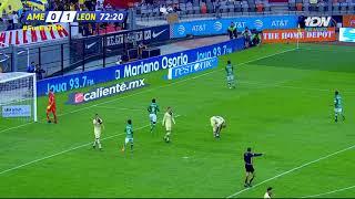 Gol de Á. Mena   América 0 - 2 León   LIGA Bancomer MX - Clausura 2019 - Jornada 6