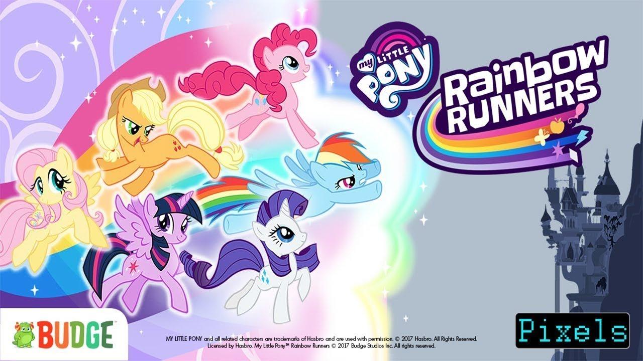Pony Rainbow Runners Permainan Kuda Poni Lari Seru Lucu Film Video Game Kartun Anak Youtube