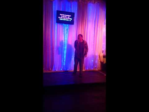 Ryan w on karaoke in Blackpool