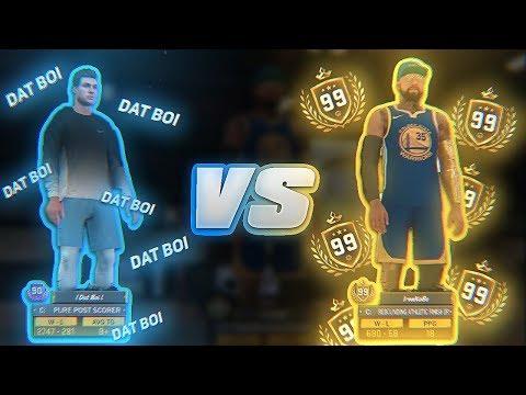 99 OVERALL 1v1 COURT LEGEND vs BEST POST SCORER IN NBA 2K18