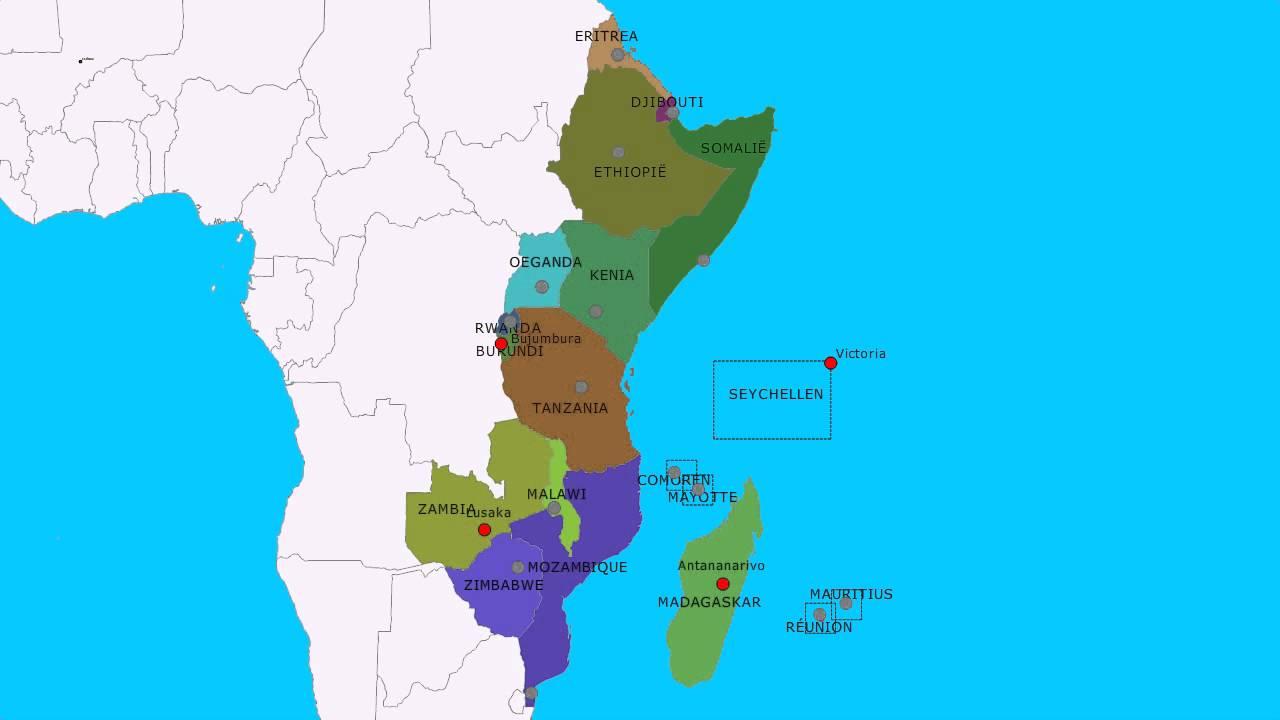 Topografie Landen En Hoofdsteden Van Oost Afrika Youtube