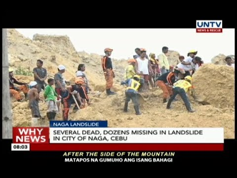 Several dead, dozens missing in landslide in Naga City, Cebu landslide