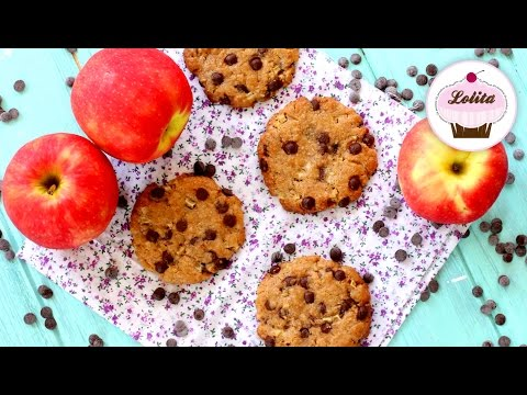 Receta de Galletas de mantequilla de cacahuete y manzana   Galletas con chispas de chocolate