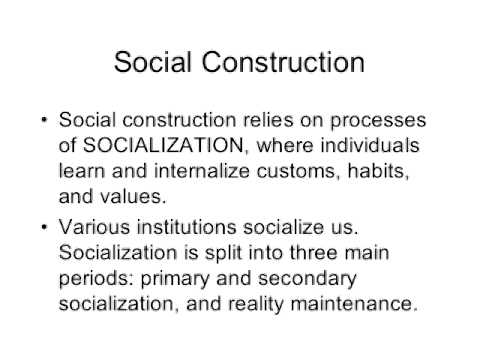 Social Construction of Gender Part 1