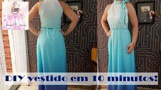 DIY – Vestido em apenas 10 minutos + Molde – Curso de Corte e Costura