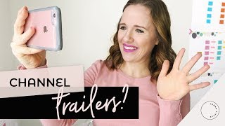 How to Create a SIMPLE Channel Trailer