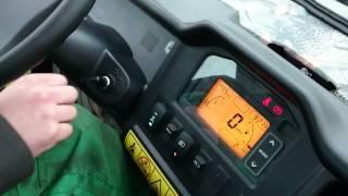 John Deere Gator XUV825i starting inside the cab