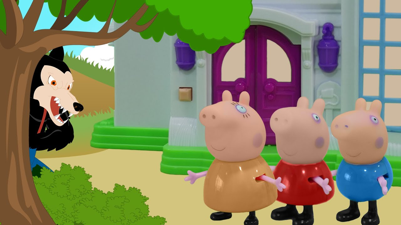 peppa pig in three little pigs youtube