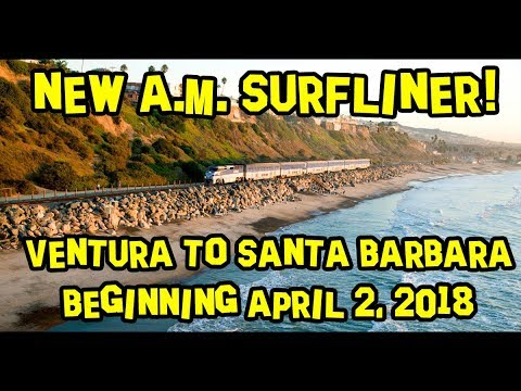 New A.M. Surfliner Train from Ventura to Santa Barbara 🚂