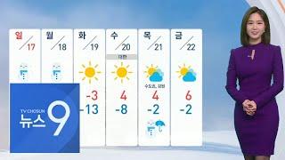 주말 다시 추워요…먼지 차츰 해소 [뉴스 9]