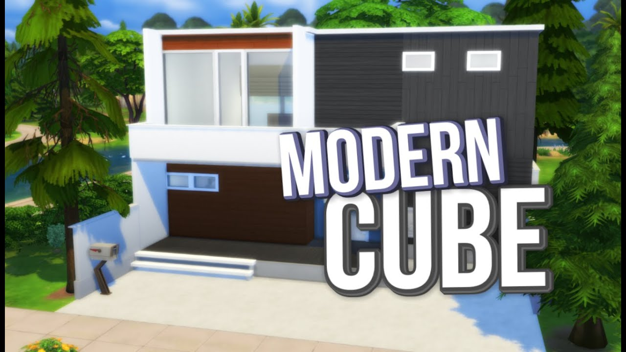 The Sims 4: Speed Build / Modern Cube House   YouTube
