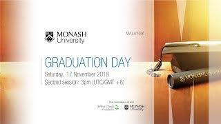 Monash Malaysia Graduation Day on 17 November 2018 (Second Session)