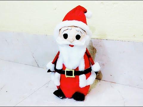 DIY | Christmas | How to make Santa Claus at home | Newspaper Craft