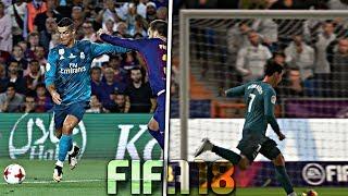 GOLES DE LA VIDA REAL EN FIFA 18! #2
