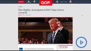 Trump reveals winners of controversial 'Fake News Awards'