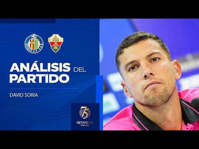Rueda de prensa de David Soria tras el partido ante el Elche