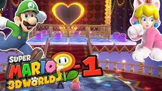Super Mario 3D World - Luigi Entre Dans La Place ! (Monde Fleur - Partie 1)