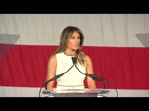 FULL SPEECH: First Lady Melania Trump In Palm Beach For Award