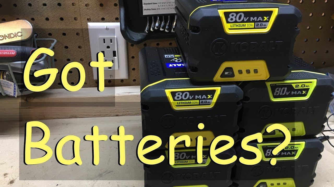 Kobalt 80 Volt Batteries