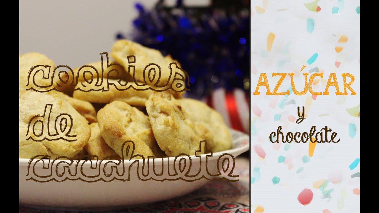 Cookies con pepitas de cacahuete - Galletas