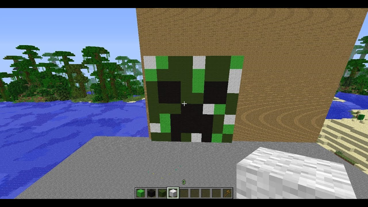 Minecraft Pixel Art - Creeper Head - YouTube