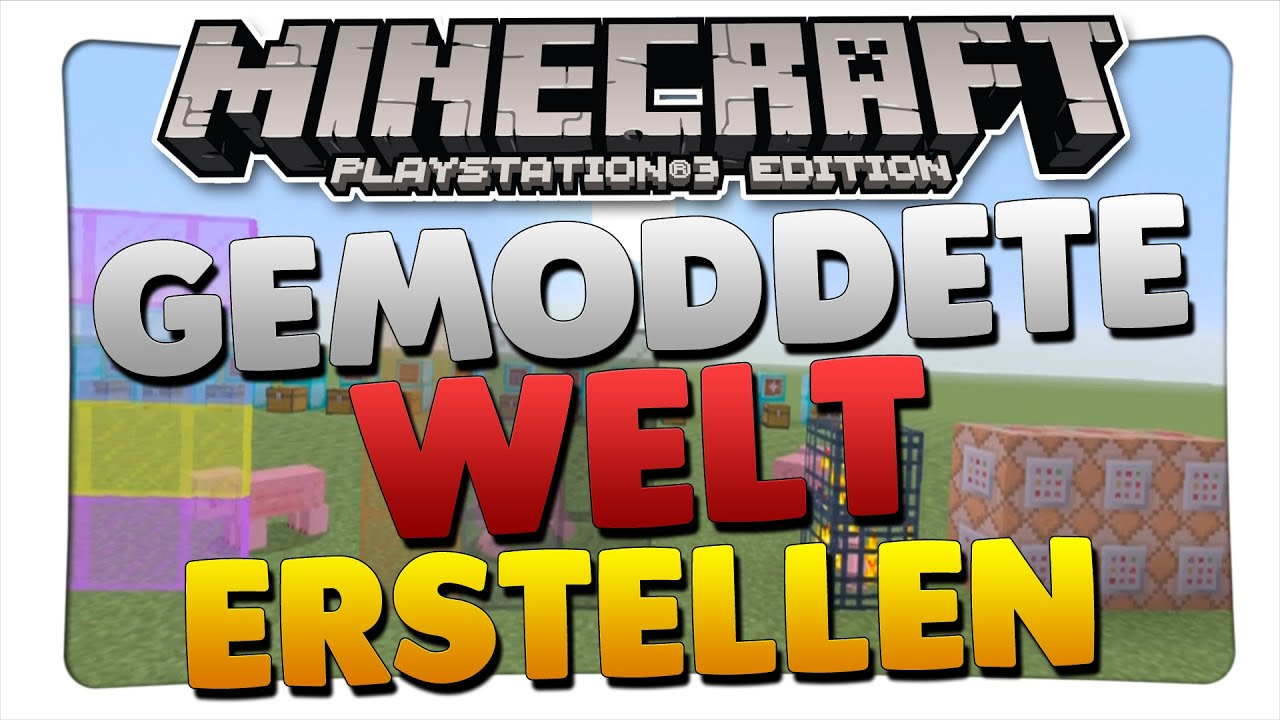 MINECRAFT PS Gemoddete Welt Erstellen Tutorial German YouTube - Minecraft server erstellen ps3