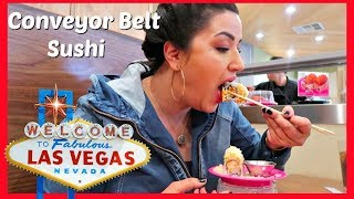 SUSHI BAR CONVEYOR BELT BUFFET  MUKBANG