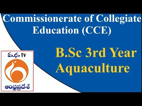 Commissionerate Of Collegiate Education (CCE)   | B.Sc 3rd Year  |  Aquaculture | MANATV Live